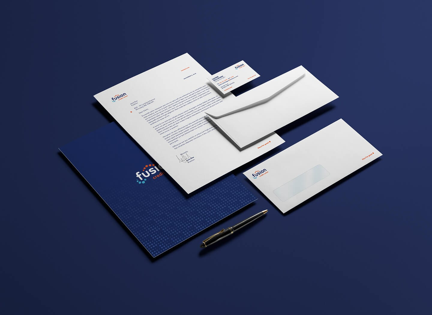 fusion_credit_union_branding_letter_business_cards